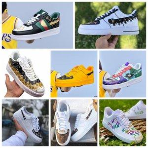 2020Hot dunk pas cher 1 utilitaire Chaussures Casual Hommes Femmes air triple af 1 forces airforce un des formateurs hommes de planche à roulettes sport sneakers40-45