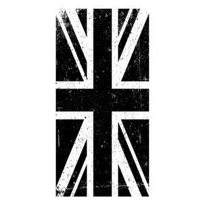 Black White Grunge Union Jack Flag Towel UK Flag Beach Travel Towels Retro British of United Kingdom Face Kitchen Towels1