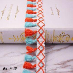 1 yards lot püskül saçak trim kumaş püsküller fringe dantel süslemeler perdeleri dekorasyon için püsküller ile DIY dikiş aksesuarları H jlllni