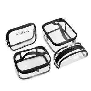 Fashion Transparent Cosmetic Bag Holographic Pouch Small Zipper Pvc Bag Makeup Toilet Makeup Organizer Mini Travel For Women Hjimk