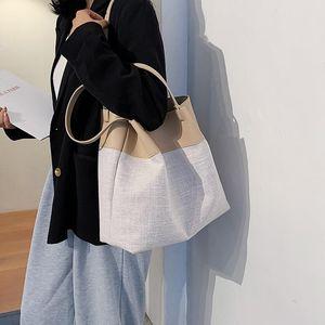 Hisuely Trendy Saco de Supermário Mulher 2021 Nova Moda Pedra Padrão Bucket Bag Casual All-Match Trançado Ombro Mensageiro Q1