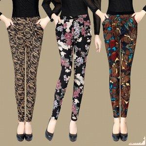 YAVO SOSO otoño estilo de invierno terciopelo cálido leggings mujeres más tamaño xxxl impresión flores 20 colores gruesos pantalones de mujer y200328