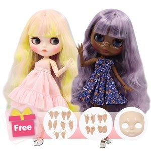 Ледяная фабрика Blyth Doll Country Body Diy Nude Nude BJD игрушки Мода Куклы Девушка подарок Специальное предложение на продажу с лицом для рук набор рукой AB AB LJ201031