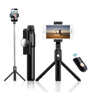 Gosear K10 Selfie Stock-Stativ Tragbare Ausziehbare Travel Live-Übertragung Online Teaching Bluetooth-Fernbedienung Selfie-Stick yxlpBG