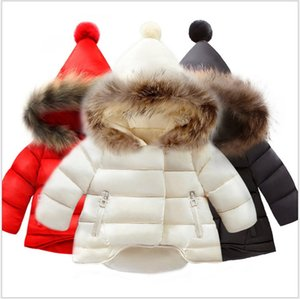 2021 New Hot Sale Baby Girls Jackets Winter Warm Down Coats Children Fur Hooded Jacket Kids Cotton Coat Outwear 6 Colors