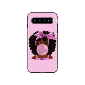 2bunz Melanin Poppin Aba Black Soft TPU Girl Phone Case for Samsung Galaxy S10 Plus S10E S20 Ultra S8 S9 Plus S10lite Note 8 9 10 Plus Cover