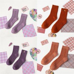 D2ox Pure Giapponese Uomini Purvel Sock Black Grigio Grigio Colo Cotton Mash Maglia Maglia Autunno e Inverno Socks Designer Bandiera Slipper