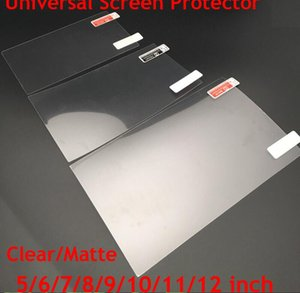 Universal 5 6 7 8 9 10 11 12inch Screen Protectors Clear or Matte Protective Film for Mobile Phone Tablet Car GPS LCD MP3 4