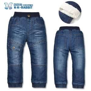 High quality Brand Winter Thick Boys Pants Kids Baby Children Jeans