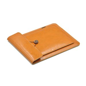 Double Layer High Capacity Laptop Bag Cover,Microfiber Leather Laptop Sleeve Case For MacBook Pro Air 12 13.3 15.4 16 201006