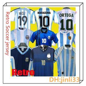NCAA 1978 1986 1996 1998 1998 2006 2014 Argentinien Messi Maradona Retro-Fußball-Trikot Caniggia Batistuta Riquelme Ortega Home Football S