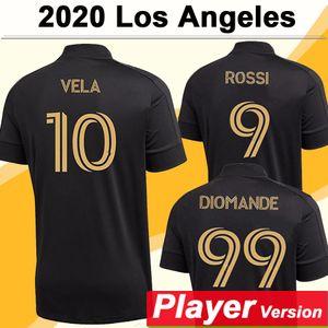 2021 Los Angeles Erkek FC Oyuncu Sürüm Futbol Formaları Yeni LAFC Rossi Vela Ev Siyah Futbol Gömlek Nimet Diomande Kısa Kollu