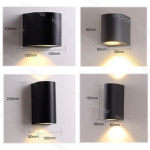 Outdoor Wall Lamps 85-265V 3W 6W 10W 20W IP65 Waterproof Modern Simple Creative For Bedroom Bedside Light Living Room DHL