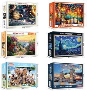 Hot Buy 1000 Pieces Assemble Photo Space Travel Landscape Puzzles Toys for Adult Children Kids Home Games