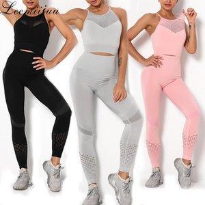 Leemiijuu Dikişsiz Yoga Set Spor Sutyen Tayt Jogging Kadınlar Spor Salonu Seti Giysi Egzersiz Spor Tayt Kadın Fitness Suit