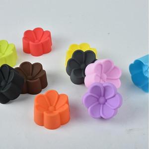 Silicone moule de cuisson en forme de fleur en silicone Moules gâteau Coupes Muffin bonbons bricolage Moisissures savon pour les mains au chocolat Cupcake cuisson Moules EWC3107
