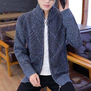 KKSKY Kış Fermuar Hırka Triko İçin Erkekler Moda Kore Stil Man Giyim İnce Erkek Kazak Uzun Kollu Örgü Hırkalar