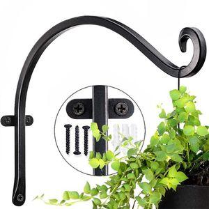 Flower Wall Bracket Garden Hanging Basket Planter Lantern Hanger Hooks Big Size 30*20cm