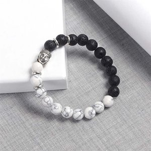 Natural Stone Beaded Bracelets White Turquoise Volcanic Rocks Manual Chakra Men And Women Beads For Jewelry Making 1 9ly K2