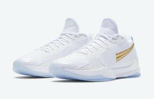 or blanc Black Mamba 5 Et si les enfants pas cher en vente avec des chaussures de basket-ball platine Boîte magasin de gros US4-US12