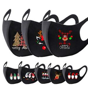 face mask designer boys girls 2020 Christmas Santa giraffe printing designer mask adult dustproof fog mouth masks black facemask