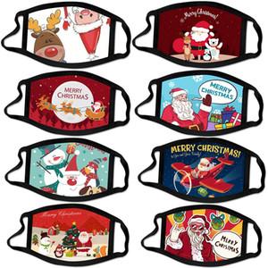 adulto Navidad de dibujos animados lavable mascarilla diseñador de máscaras de Navidad de Santa Claus hombres mujeres contra la mascarilla niebla de polvo en stock