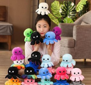 Favor Event Festive Party Supplies Home & Garden Drop Delivery 2021 Octopus Stuffed Dolls Soft Simulation Reversible Color Chapter Plush Doll