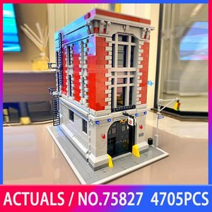 In Stock 16001 4705PCS Firehouse Headquarters Ghostbusters Set Building Blocks Bricks Educational Toys Christmas Birthdays Gifts Q0123