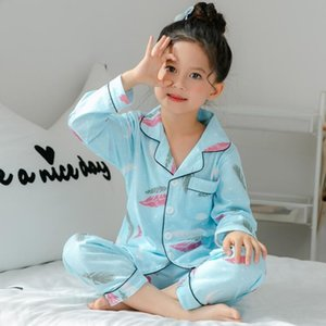 Spring and autumn children's long sleeved pajamas suit for kids 100%cotton girls boys household clothes children pajamas R4456