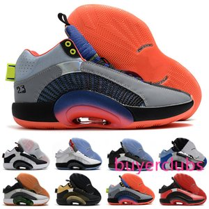 2020 High Quality New Jumpman XXXV 35 Blue Void Red White 35s Mens Basketball Shoes Store Free Shipping