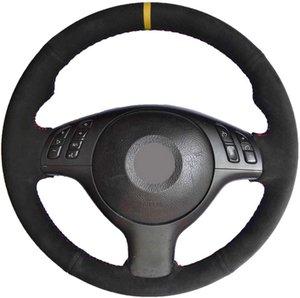 DIY Otomobil direksiyon kapak DIY el-dikili İç Aksesuar İÇİN BMW E46 E39 330i 540i 525i 530i 330Ci M3 2001-2003