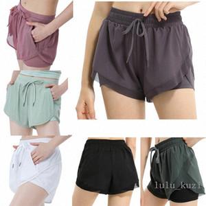 Lulu women loose yoga shorts pocket quick dry gym sports Leggings shorts pants Women 2020 new style dresses 2021 y0Tv#
