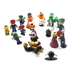Super Mario Brothers Action Figures Cartoon Toy Set 18 Assorted Characters for Hours of Creative Play