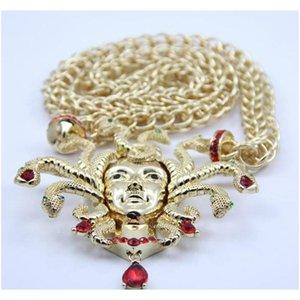 Ретро девять змеиных головки ожерелье женское ключица золотая цепь преувеличение большого размера CHARM WMTCFV NEW_DHBEST