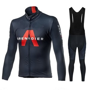 2020 INEOS GRENADIER Cycling Jersey Set Men Pro Team Clothing Long Sleeve Jacket Suit Race Uniform Winter Thermal Fleece Uniform C0125