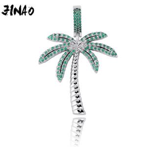 Jinao Moda ghiacciato fuori Palma cubico zircone oro Collana placcato Colore Silver Jewelry Hip Hop Uomo Donna regalo 201013