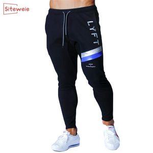 Siteweie Jogging Брюки Мужчины спортивные спортивные штаны беговые спортивные брюки бегуны хлопковые трексуты стройные брюки бодибилдинг брюк G248 201106