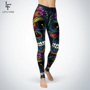 LetsFind Novo Design Açúcar Skull Leggings Mulheres Moda Sexy Fitness Elasticity Plus Size Calças de Alta Qualidade Slim 7/8 Leggings LJ200923