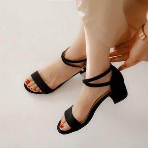 Платье Обувь плюс Размер 12 13 14 15 18 19 Высокие каблуки Сандалии Женщина Женщина Летние Дамы Повседневная Открытые с толстым