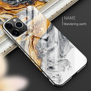 Full Protective Phone Case For iphone 11 12 Pro Max X XR XS Max 8 7 6 6s plus Tempered Glass TPU Hard Marble Back Cover