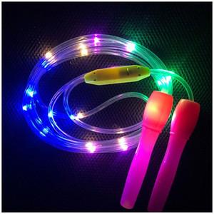 Jump Rope corda di esercitazione di ginnastica ardore LED lampeggiante Bambini giocattolo di plastica allenamento allenamento fitness brillante del partito del regalo di compleanno Decor b6di #