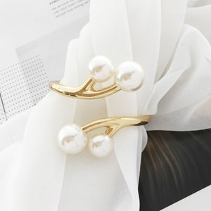 Anke Store 2020 New Design Popular Simple Fashion Jewelry Alloy Pearl Gold Bracelet Bangles for Women Wholesale Pulseras Mujer 0930