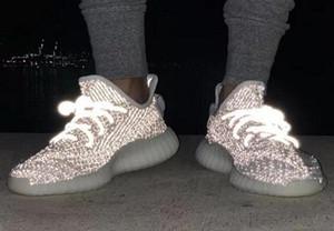 ssYEzZYYEzZYs v2 350 Eva-boosts 35 V2 Men Women Chaussures 3M Static Reflective Running Shoes In Black 2019 Kanye West Sneaker TN