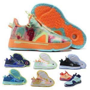 PG Paul George 4 Erkekler Basketbol Ayakkabı Sneakers Gatorade Digi Camo Bred Ekose Gamer Özel Narenciye Oreo GX Chaussures Tenis Eğitmenler Ayakkabı