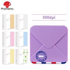 Phomemo M02S Mini Тепловое Принтер этикеток Портативный беспроводной Bluetooth 300dpi HD принтера Карман Mobile Фото для