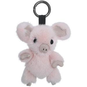 Importierte Echt Netter piggy Fur Beutel-Anhänger Plüsch Piggy Puppe Schlüsselanhänger Auto-Anhänger Schlüsselanhänger Trendy Schmuck Tasche Accessori