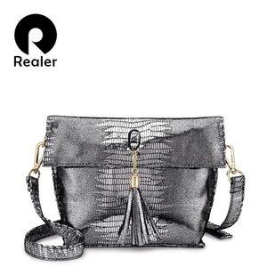 Realer femmes sac bandoulière de messager sac d'été marque sacs crossbody de haute qualité pour les femmes dames en cuir pompon artificiel