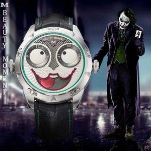 Men 039;s Fashion Watch Konstantin Chaykin Joker TWF Best Edition Wild Black Leather Strap 2824 Moon Phase Automatic Watch