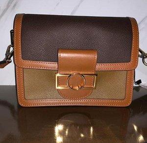 Bolsas de billeteras de alta calidad Crossbody Bolsas DAUPHINE 20 Totes Reales Diseñador Hombro Hombre Cuero Alta Calidad Bolsos de Mujeres 25CM Messenger BA QCMS