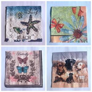 vintage Paper Napkins decoupage MIX 20pcs 25*25cm bird flower napkins for decoupage